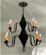 10 Arm Pennsylvania German Dual Tier Chandelier