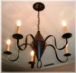 5 Arm Pennsylvania German Dual Cone Chandelier