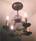 4 Candle 12 in. Moravian Star Chandelier