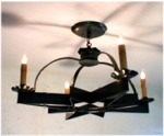 Large 4 Candle 24 in. Moravian Star Chandelier