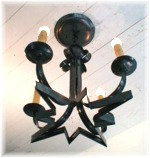 4 Arm Anchor Colonial Moravian Star Chandelier