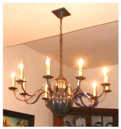 10 Arm Salem Gracile Elliptic Chandelier