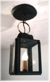 4x6 (interior) ceiling mounted copper-brass-pewter-tin-lanterns