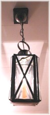 4x9 ceiling mounted pendent banded copper-brass-pewter-tin-lanterns